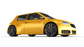 Voiture de sport jaune - 3D rendent Image stock