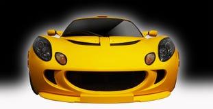 Voiture de sport jaune Image stock
