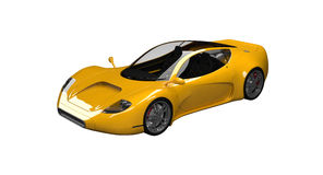 Voiture de sport jaune de concept Photo stock