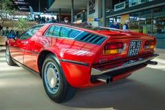 Voiture de sport Maserati Bora Tipo 117, 1971 Photos stock