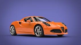 Voiture de sport orange fraîche illustration de vecteur