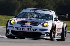 Voiture de sport, Porsche 997 GT3 RSR (LMS) Photographie stock libre de droits