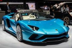 Voiture de sport 2018 de roadster de Lamborghini Aventador S photos stock