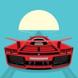 Voiture de sport rouge Image libre de droits