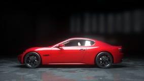Voiture de sport rouge de luxe Rendu 3d réaliste illustration libre de droits