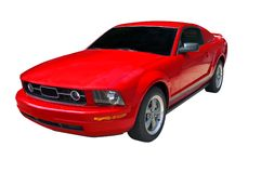 Voiture de sport rouge de mustang Photo stock