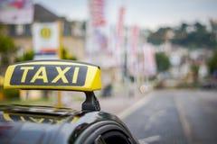 Voiture de taxi photo stock