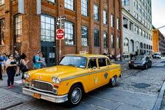 Voiture de taxi de marathon de contrôleur à Brooklyn Photos libres de droits