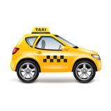 Voiture de taxi sur le vecteur blanc Image stock