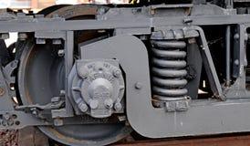 Voiture de train de chemin de fer électrique au bord du lac Photo libre de droits