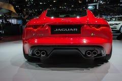Voiture de type f de Jaguar R sur l'affichage au salon de l'Auto de LA. Image stock