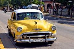 Voiture de vintage à Varadero images libres de droits