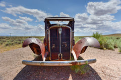 Voiture de vintage de Route 66 photo libre de droits