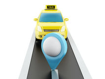 voiture du taxi 3d sur la route Images libres de droits