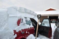 Voiture en hiver Images libres de droits