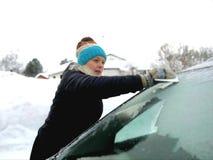 Voiture en hiver Image libre de droits