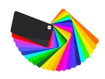 Voiture enveloppant l'échantillon de palette de couleurs de film Photographie stock libre de droits