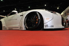 Voiture GTR de Nissan Skyline R35 au 3ème autosalon international 2015 de Bangkok le 27 juin 2015 à Bangkok, Thailan Images libres de droits