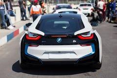 Voiture hybride de BMW i8 image libre de droits