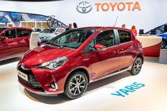 Voiture hybride de Toyota Yaris images libres de droits