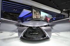 Voiture hybride gaz-électrique de concept de Toyota FT-HT Photographie stock libre de droits