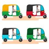 Voiture indienne de pousse-pousse de moteur Tuk indien de tuk Illustration de vecteur Image libre de droits