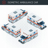 Voiture isométrique d'ambulance illustration stock