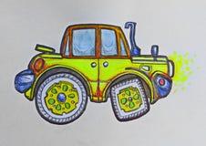 Voiture jaune de jeep Image libre de droits