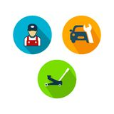 Voiture Logo TemplateWith Flat Color Images stock