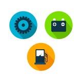 Voiture Logo TemplateWith Flat Color Photo libre de droits
