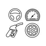 Voiture Logo TemplateWith Flat Color Images libres de droits