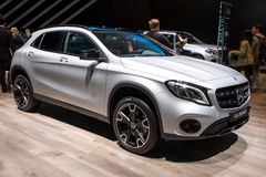 Voiture 4MATIC de Mercedes Benz GLA 220 Photos libres de droits