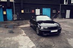 Voiture noire, coupé de BMW E46 Photo stock