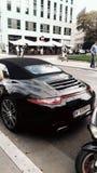 Voiture noire Porsche photographie stock libre de droits