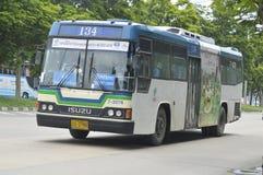 Voiture numéro 134 d'autobus de Bangkok Image libre de droits