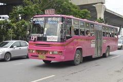 Voiture numéro 133 d'autobus de Bangkok Photos stock