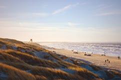 Voiture-plage à la côte danoise de la Mer du Nord images stock