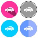 Voiture plate d'icônes Image libre de droits