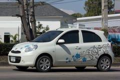 Voiture privée d'Eco, Nissan March Photos stock