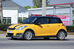 Voiture privée d'Eco, Suzuki Swift Photo libre de droits