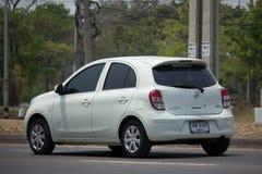Voiture privée Nissan March d'Eco Images libres de droits