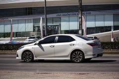 Voiture privée, Toyota Corolla Altis Onzième génération photographie stock
