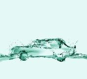 Voiture qui respecte écologiques de l'eau Photos stock