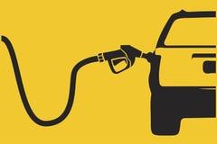 Voiture remplissante de pompe à essence photographie stock