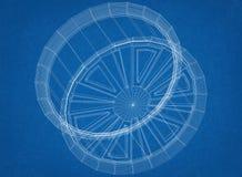 Voiture Rim Architect Blueprint illustration libre de droits