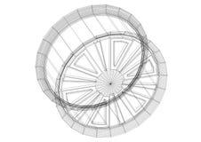 Voiture Rim Architect Blueprint - d'isolement illustration stock