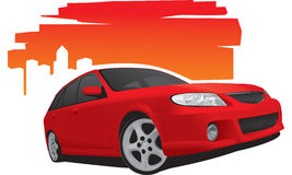 Voiture rouge Image stock