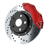Voiture rouge de frein Image stock