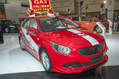 Voiture rouge du trumpchi ga3 Photo libre de droits