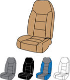 Voiture Seat d'isolement Photographie stock